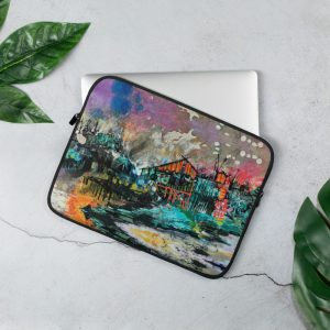 Cabin by the Lake Laptop Sleeve